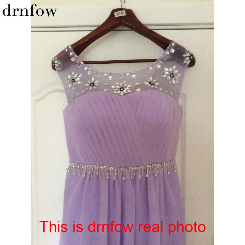 2017 Fashion long bridesmaid dresses plus size slim double shoulder ...