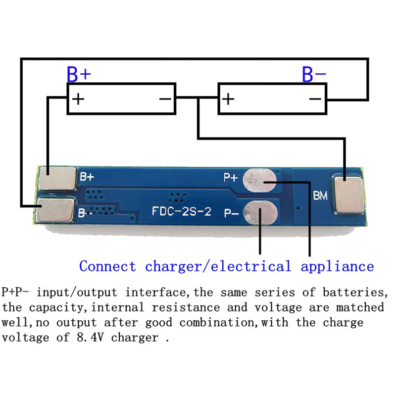 TZT-2S-3A-Li-ion-Lithium-Battery-7-4v-8-4V-18650-Charger-Protection-Board-bms