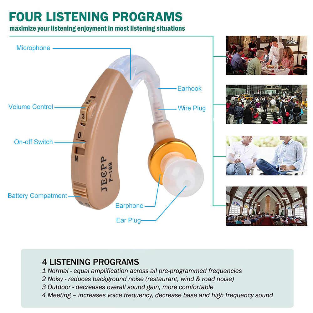 F-168 BTE 補聴器音声アンプ機器調整可能なサウンドエンハンサー補聴器キット耳のケア