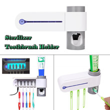 2018 Sterilizer Automatic toothpaste Toothbrush Holder Cleaner & Automatic Toothpaste Dispenser 9.13