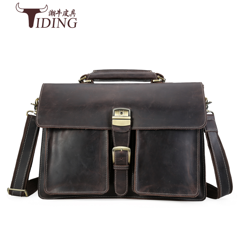 men briefcase cow leather 2017 new business man casual fashion brand dress black solid handbags genuine leather laotop bags 15 3colors hk dashan brand men s briefcase high quality pu leather business man 15 laptop handbags black fashion casual male bags