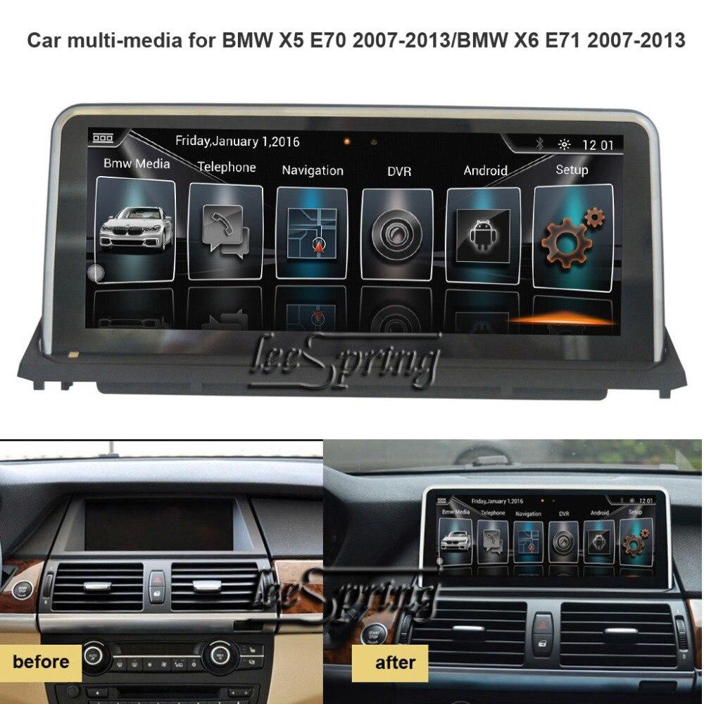 10,25 дюймов, автомобильный, мультимедийный плеер для BMW X5 E70 2007 2013/BMW X6 E71 2007 2013 с gps навигации MP5 Wi Fi (нет DVD)