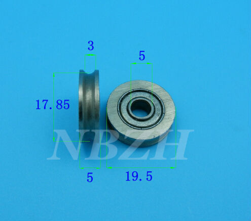 JS0519U U groove pulley bearings 5x19x6mm Ugroove roller wheel ball bearing for clothes hanger 635ZZ