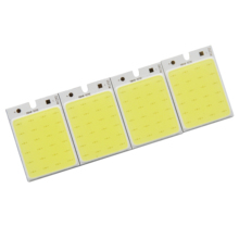 10PCS 12v 36mm 26mm hot rectangle COB Bulb 3W 6500K Pure Whihe Chip On Board Lighting Source for DIY Home Car Work Lamp