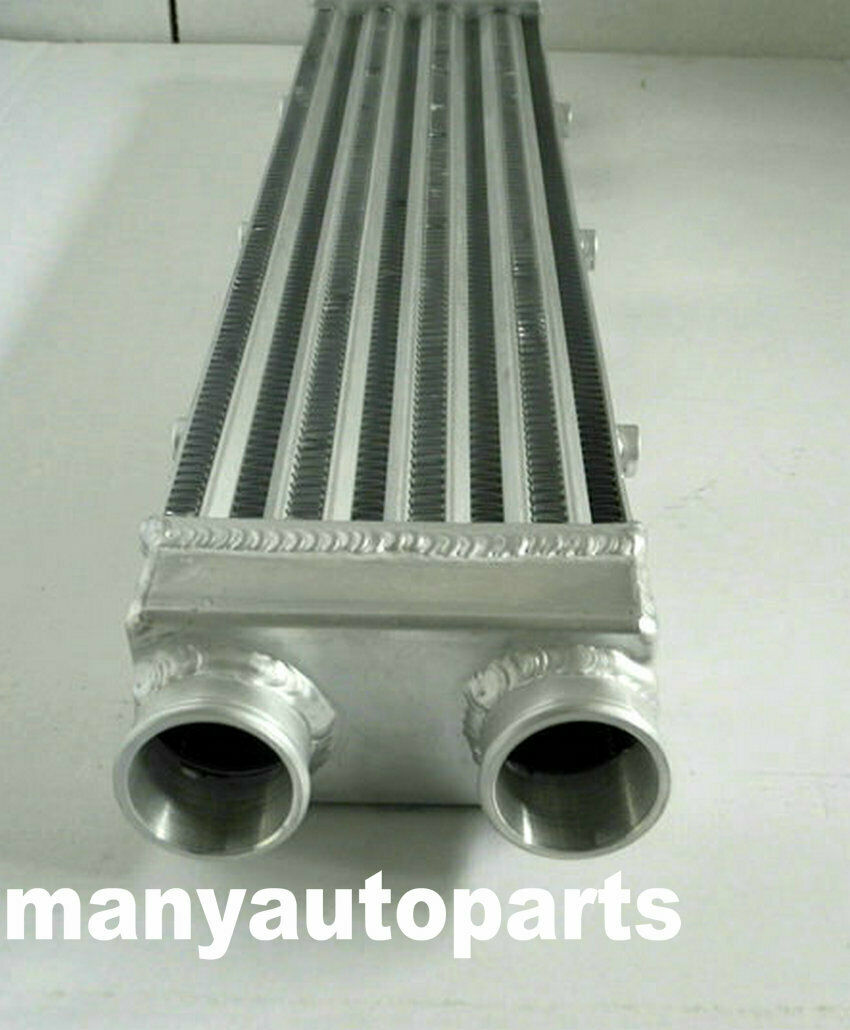 """Turbo Aluminum Intercooler 2/"""" 550x140x70 mm Delta Fin Same Side Outs 2 Inch"""