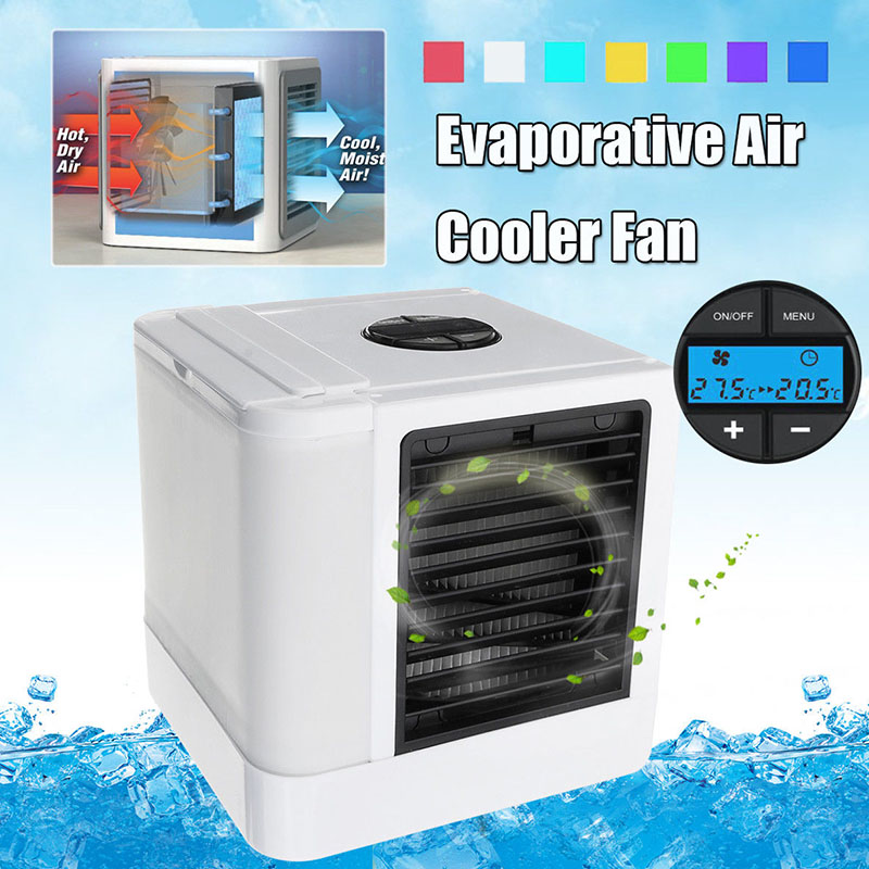 цена Hot Useful Portable Mini Evaporative Air Conditioner Cooler Fan Cooling Humidifier Cleaner HY99 JY23