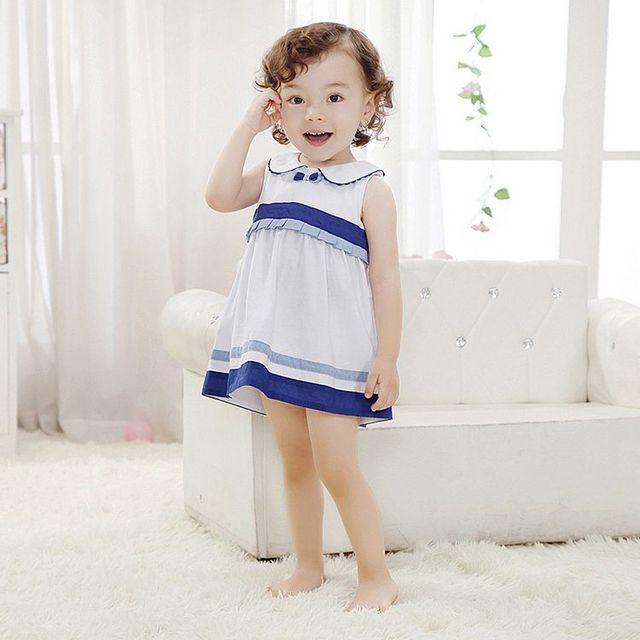 2016 Brand New Baby Girls Summer sleeveless Dress Kids Clothes Vestidos Children Dress Princess Party Dresses for Girls
