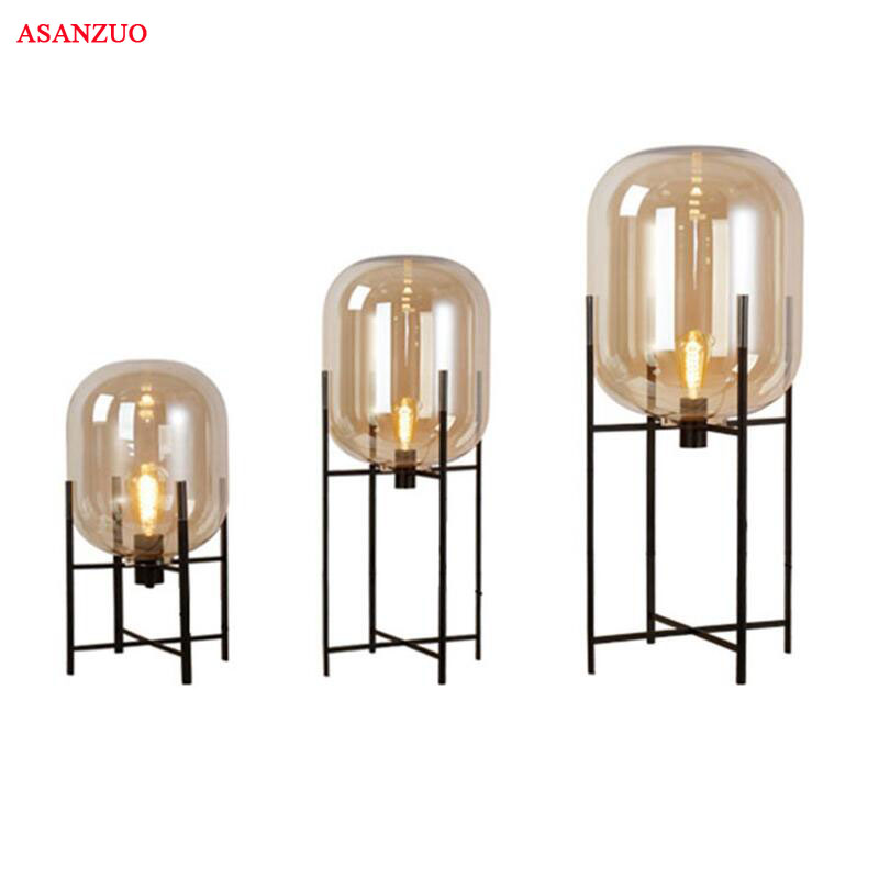 Simple creative personality Glass Table Lamps For hotel home Living Room standing lamp study bedroom bedside lamps Floor lamp french garden vertical floor lamp modern ceramic crystal lamp hotel room bedroom floor lamps dining lamp simple bedside lights