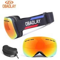 Obaolay Snow Cycling Eyewear Goggles Polarized Anti Fog Cycling Sunglasses Windproof UV400 Protection Outdoor Sports Ski