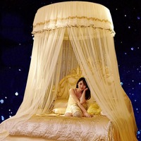 Romantik Cibinlik Prenses Böcek Net Hung Dome Yatak Yetişkinler için Netleştirme Dantel Yuvarlak Cibinlik Perde Kanopiler Çift Yatak