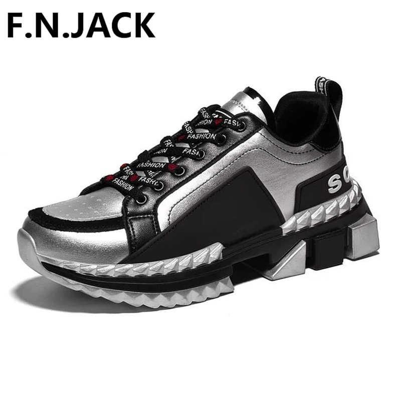 F. N. JACK/Мужская обувь, оригинальные мужские повседневные кроссовки на шнуровке, базовые кроссовки из натуральной кожи на плоской подошве