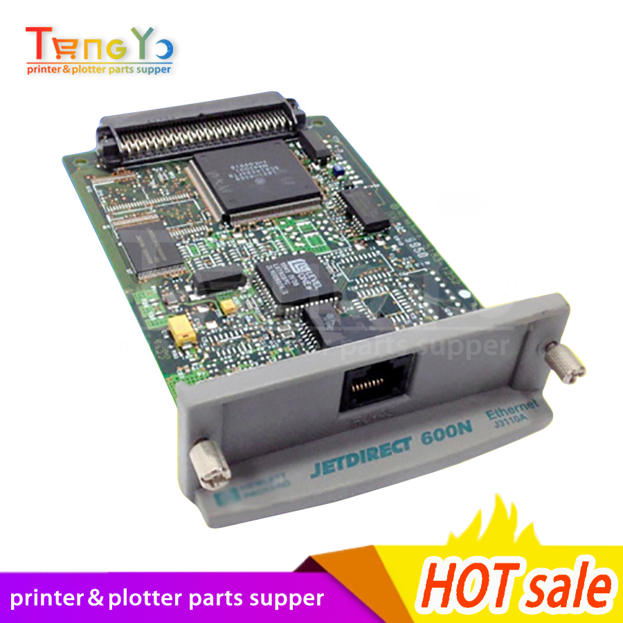 Livraison gratuite JetDirect 600N J3113A 10/100tx Ethernet serveur d'impression interne carte réseau imprimante partie en vente