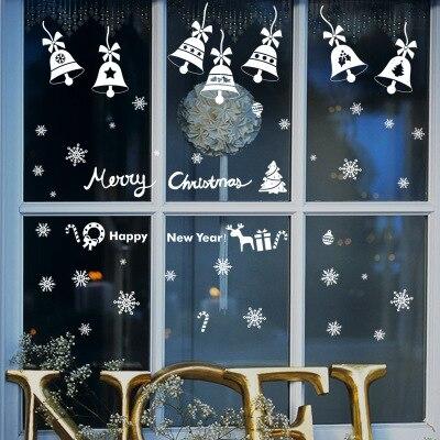 Vrolijk Kerst Gelukkig Nieuwjaar Quotes Muursticker Sneeuw Glas