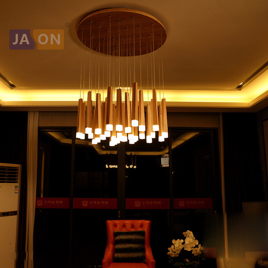 Chandeliers Ceiling Lights & Fans Realistic Designer Matchstick Led Wood Bedroom Living Room Chandelier For Dining Room Clothing Store