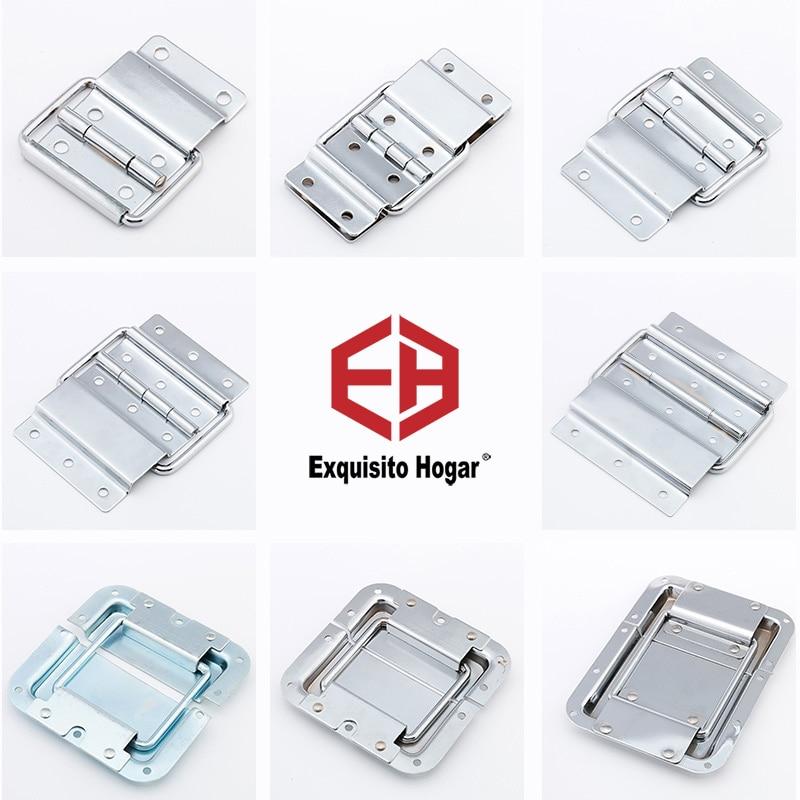 Caja de Herramientas de madera caja de cifrado de aluminio soporte de armario y maleta de avión caja de bisagras con bisagras