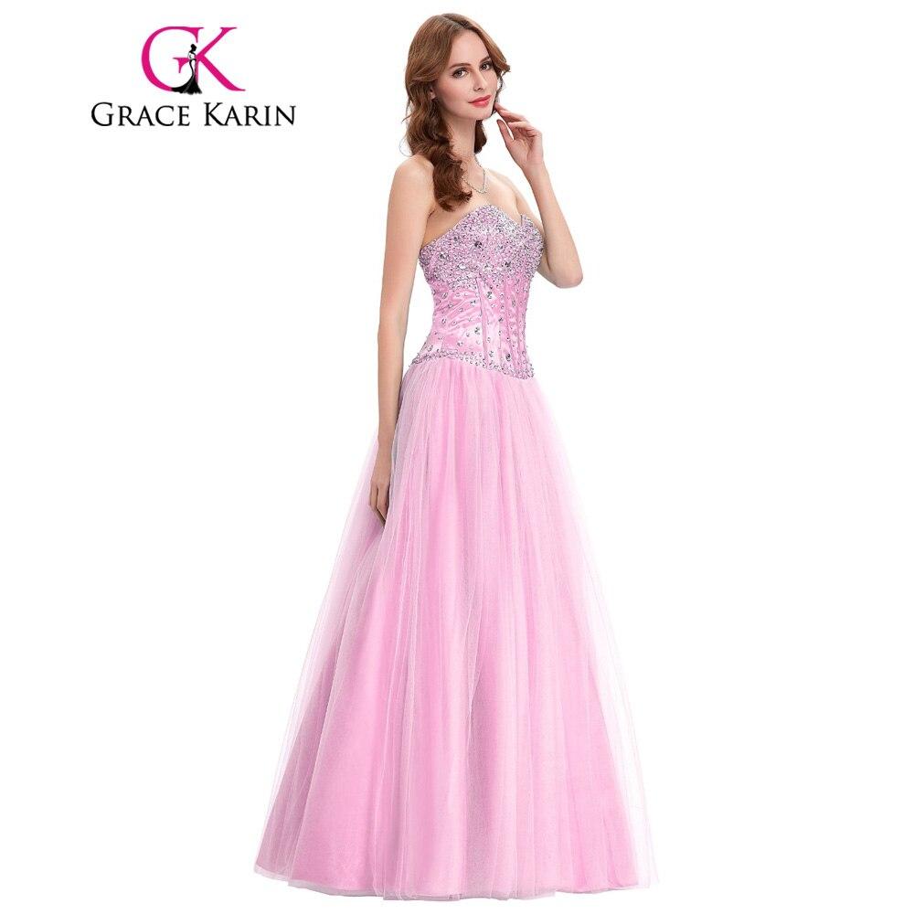 Grace Karin Elegant Bling Sparkly Long White Prom Dresses Sweetheart ...