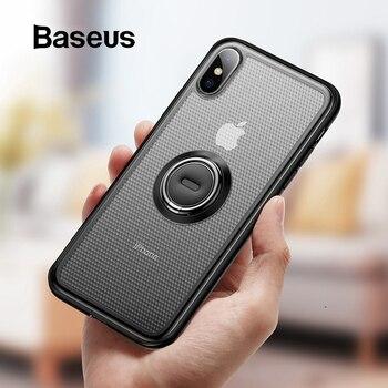 Baseus โทรศัพท์ Creative สำหรับ iPhone Xs ผู้ถือแหวนยืนสำหรับ iPhone Xs Max Xs XR 2018 สำหรับผู้ถือรถแม่เหล็ก