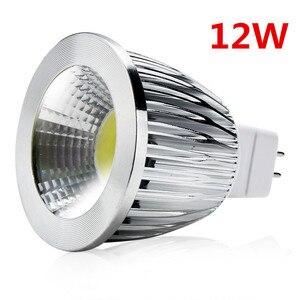 10 шт./COB MR16 9 Вт 12 Вт 15 Вт Диммируемый «COB» прожектор светодиодный теплый/холодный белый MR16 12 В Светодиодная лампа