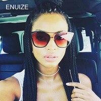 Luxury Oversize Women Brand Designer Twin-Beam Cat Eye Sunglasses Female Mirror Sun Glasses Shades UV400