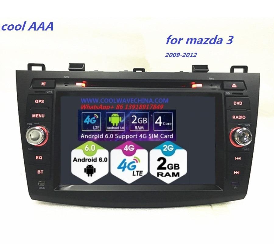 imágenes para 2din radio de coche del Androide 6.0 Quad core para mazda 3 HD1024 * 600 8 pulgadas odb2 Pantalla reproductor de DVD 2009-2012 con wifi 4G bluetooth