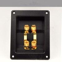 10 قطعة/الوحدة موصل صوت المتكلم مربع تقاطع الأربعة هي نقية النحاس الصوت الملحقات-في موصلات من مصابيح وإضاءات على