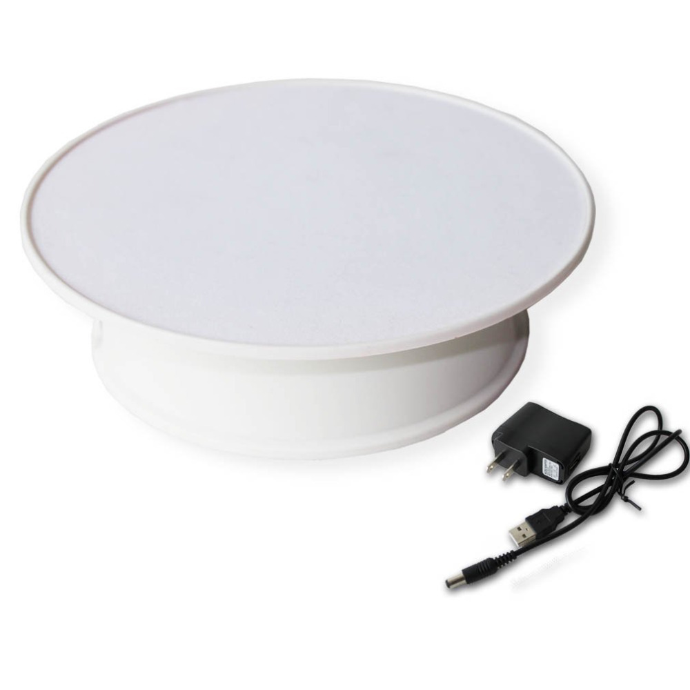 Stand-Plate Watch Turntable Jewelry Decorating Revolving Display Digital-Product White