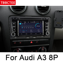 For Audi A3 S3 8P 2003~2012 MMI Android Car multimedia player Navigation Autoradio GPS  WiFi BT Map HD System ips android 2 din car dvd gps for audi a3 s3 8p 2003 2012 mmi navigation multimedia player stereo radio wifi system