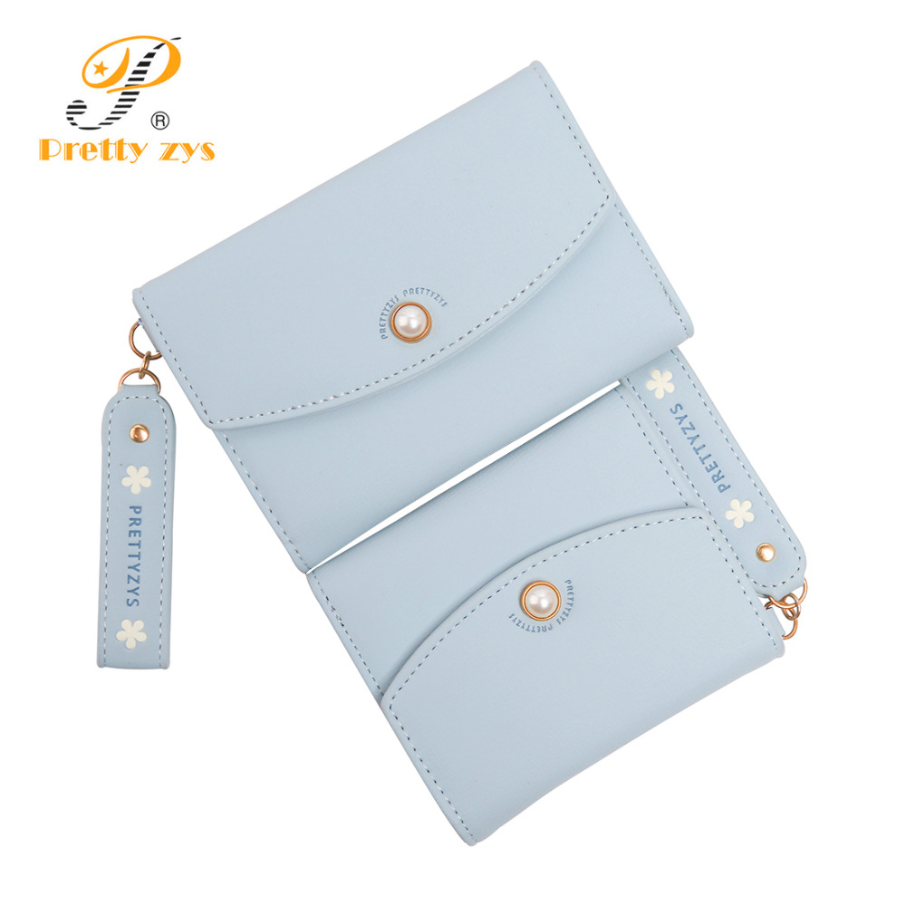3 SIZE Women Leather Wrist Wallet Fashion Lady Portable Short & Long Zipper Change Coin Card Holder Purse Carteras Female Clutch