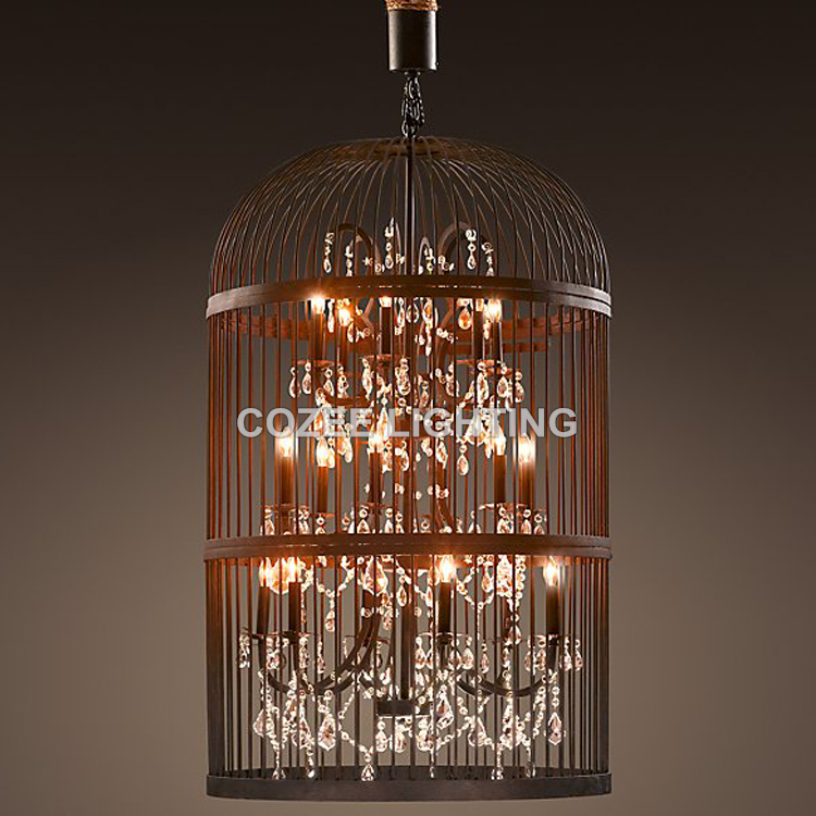 купить Modern Crystal Chandelier Hanging Lighting Birdcage Chandeliers Light for Living Room Bedroom Dining Room Restaurant Decoration недорого