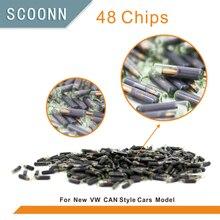 30pcs lot ID48 auto transponder chip ID 48 Car Key Chip 48 glass tube for VW