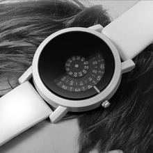Moda gramofon zegarek dla pary mężczyzna kobiet zegarki kreatywny zegarek skórzany ukochanego zegar sevgili saati reloj hombre reloj mujer tanie tanio Paidu QUARTZ Klamra STAINLESS STEEL Nie wodoodporne Moda casual 40mm Skóra 24cm Szkło 10mm ROUND Odporny na wstrząsy
