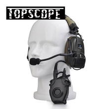 Tactical Comtac Peltor Headset Z054 combat I Tactical noise reduction Earphone with Z112 PTT stand rrb version(China)
