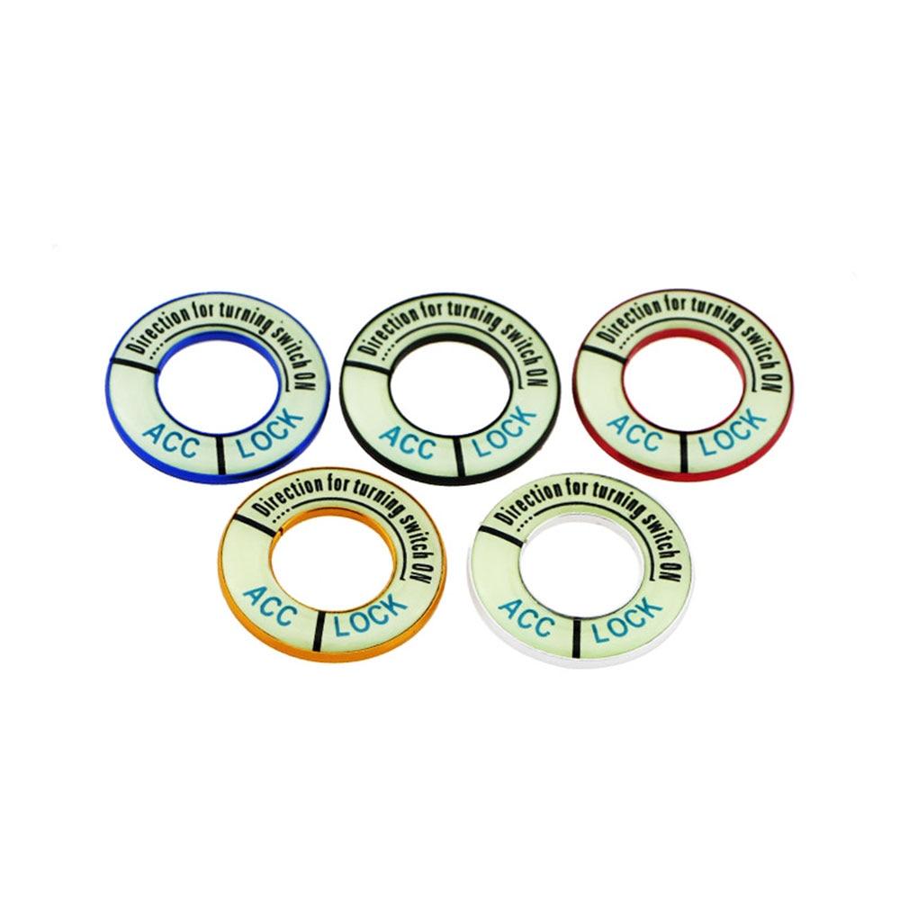 Zlord Luminous Car Ignition Key Lock Keyhole Decoration Ring Sticker For Citroen C-Quatre C2 C4 C4L C5 Elysee Accessories