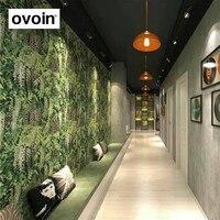Green Nature Photo Wallpaper Roll 3d Background Modern Vinyl Wall Paper For Store Bar Booth Restaurant