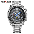WEIDE Luxury Brand Men's Quartz Analog Wrist Watch Silver Stainless Steel Band 3ATM Waterproof Military Sport Hot Sale Items