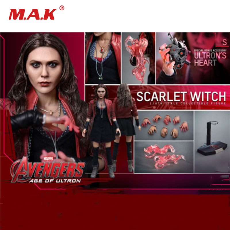 Full set 1/6 Scale The Avengers Scarlet Witch Age of Ultron Figure Doll MMS301 Collectible Action Figure Doll Toys Gift 1 6 scale avengers age of ultron wanda scarlet witch full set action figure war version for collections