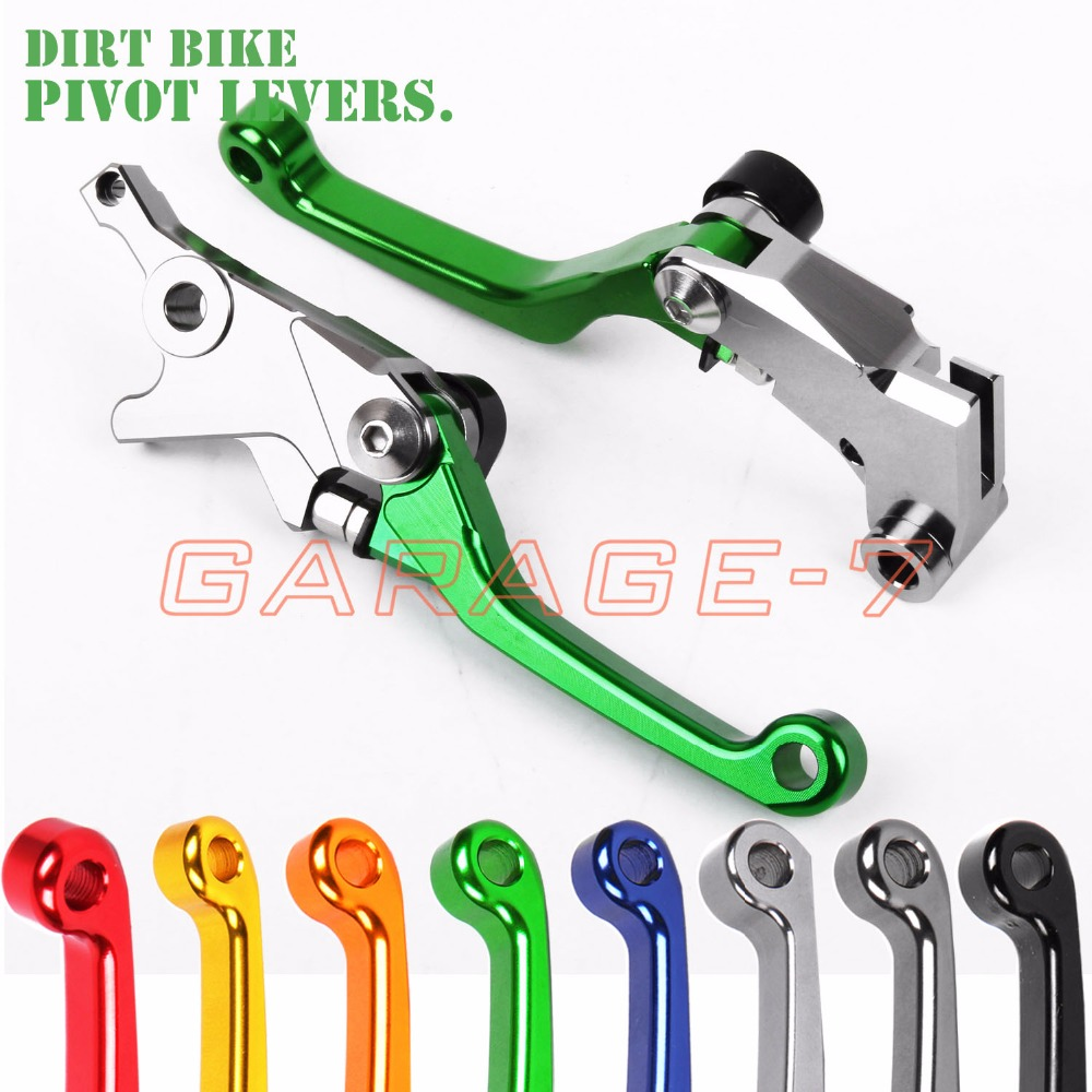 For Kawasaki KX125 KX250 KX450F KX250F Hot High-quality CNC Pivot Racing Motocross Off Road Brake Clutch Levers Dirt Bike Lever cnc front brake cylinder reservoir cap fit kawasaki kx65 kx80 85 100 kx125 kx250 kx250f kx450f motocross off road dirt bike