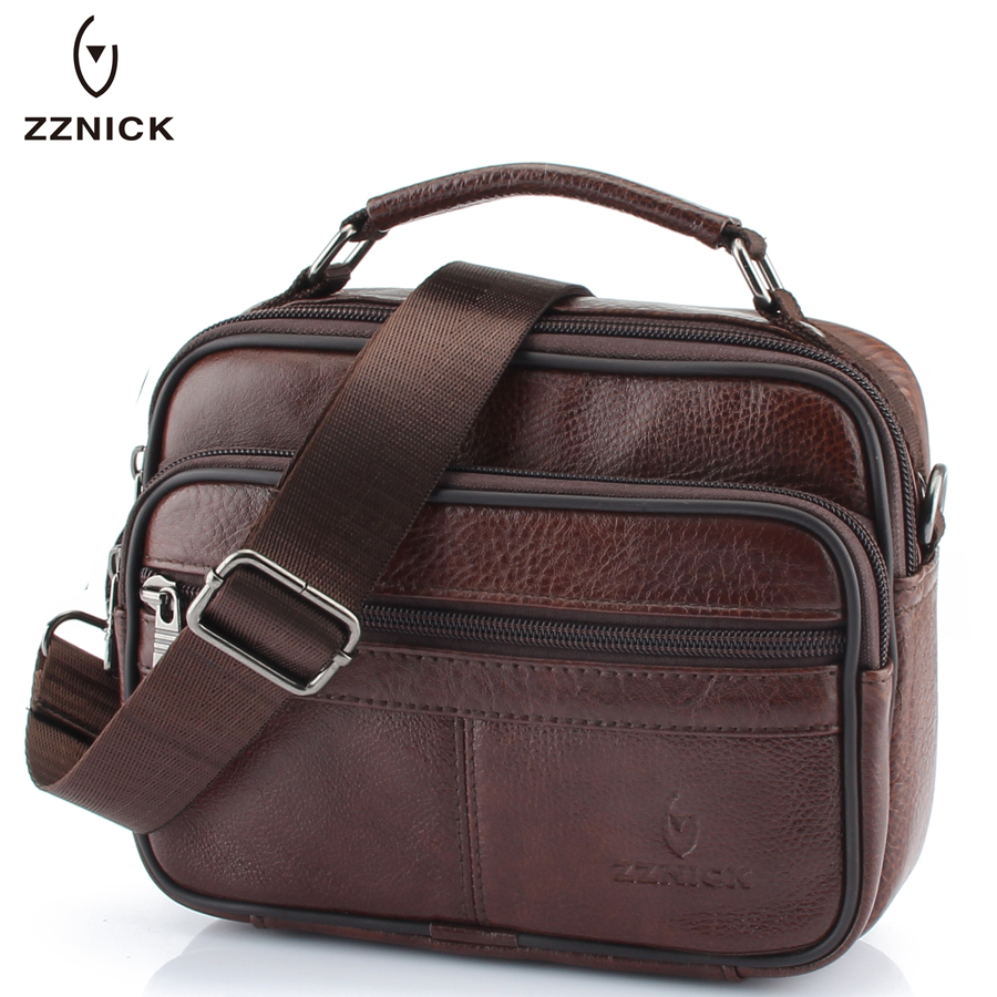 2020 Genuine Cowhide Leather Shoulder Bag Small Messenger Bags Men Travel Crossbody Bag 6