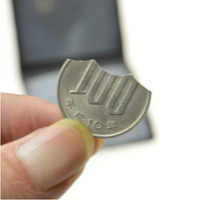 Bite Out And Restore Coin Japan Coin Version Magic Trick Folding Coin Street Close Up Accessories