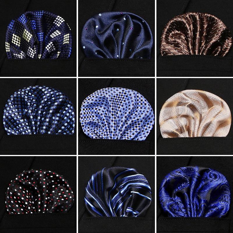 Free Shipping Hankerchief Scarves Vintage Silk Hankies Men's Pocket Square Handkerchiefs Rose Flower Paisley