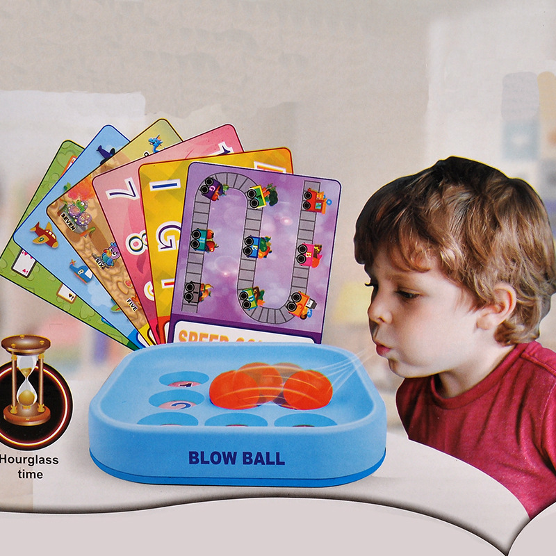 MINOCOOL 3D Puzzle Ball Blowing Game Memory and Intelligence Competition Game Kit Educational Toys For Children Adults image