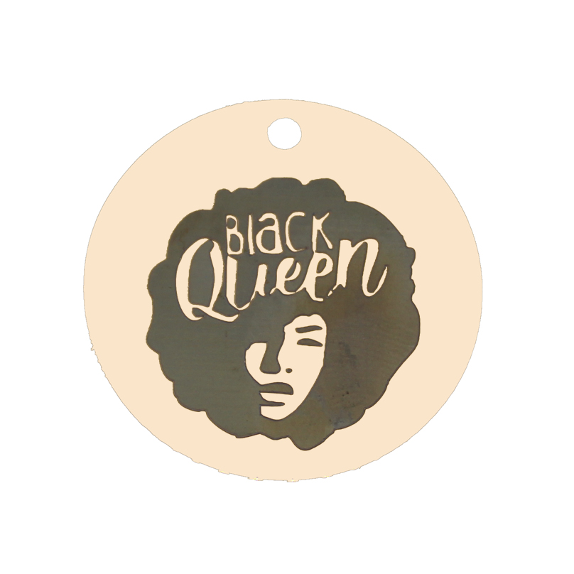 Ladyfun Customizable Black Queen Charm Round 25mm Beautiful Inspiration Afro Black Women Charms For Women Gifts Jewelry Making in Charms from Jewelry Accessories