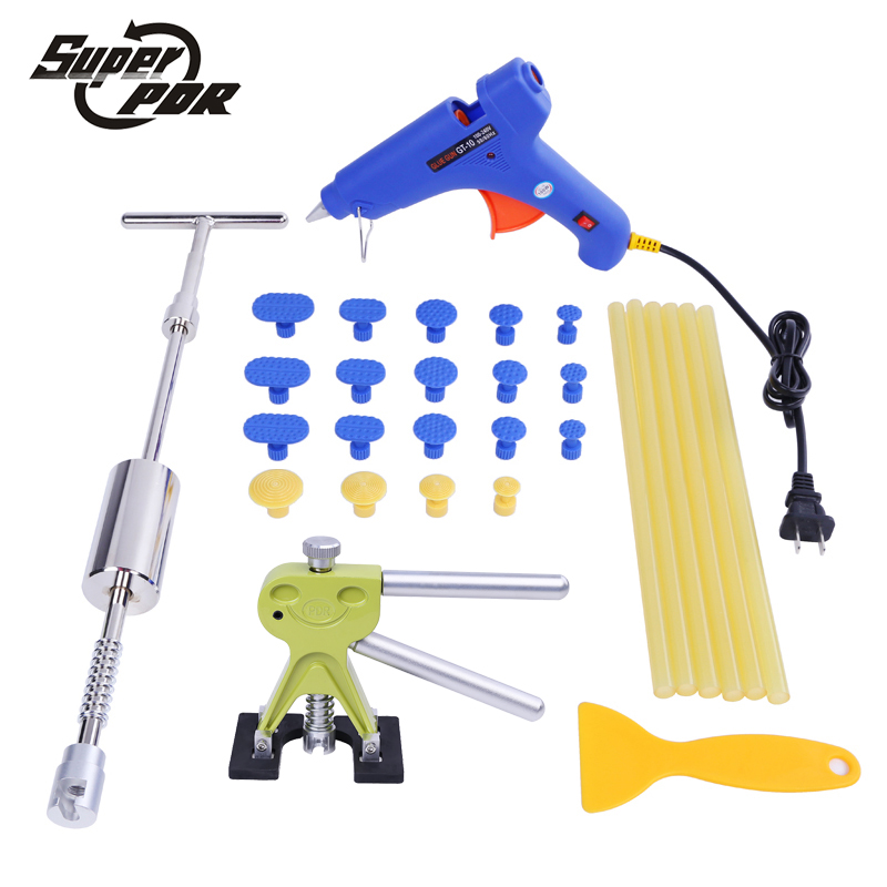 Super PDR Tools Kit Paintless Dent Repair Tools Dent Removal Car Body Repair Kit Tool To Remove Dents Dent Puller