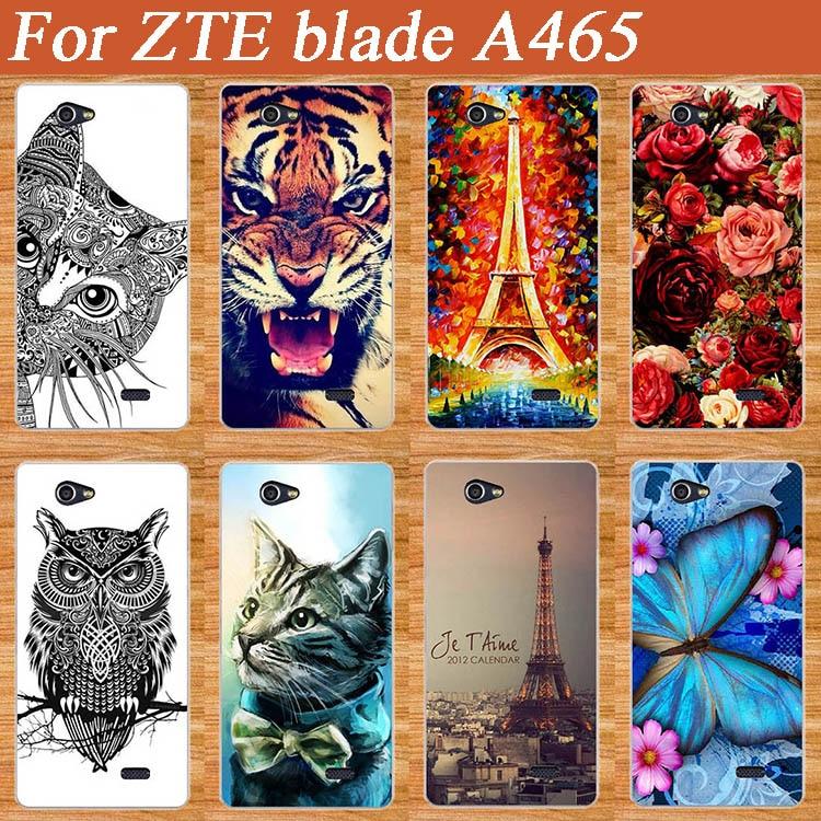För ZTE-blad a465 fodral Högkvalitetsmönster Målat mjukt tpu-telefonfodral för ZTE A465 Fodral Skydd TPU-telefonskydd