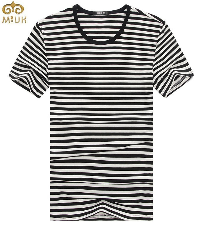Miuk super large size striped t shirt men 6xl 5xl o neck for Large shirt neck size