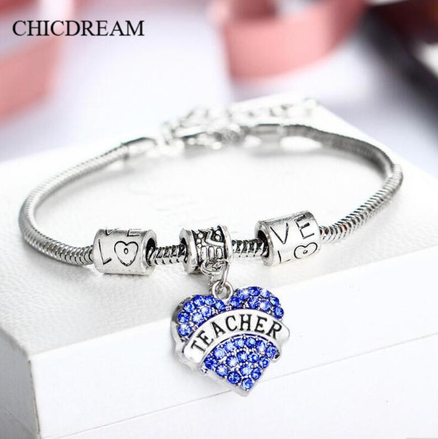 CHICDREAM Teachers Day Gift Fashion Heart Shape Pendant European ...