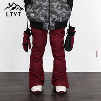 LTVT Couple Winter Ski Pants Single Board Double Pants Multi Color Quilted Warm Waterproof Thick Men /Women Ski Pants