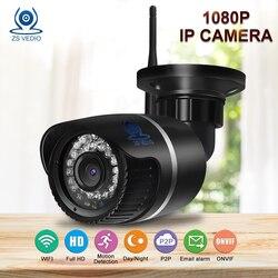 ZSVEDIO Surveillance Cameras wifi cctv camera security Waterproof wireless 1080p alarm monitor Full HD Bullet ip camera wi-fi