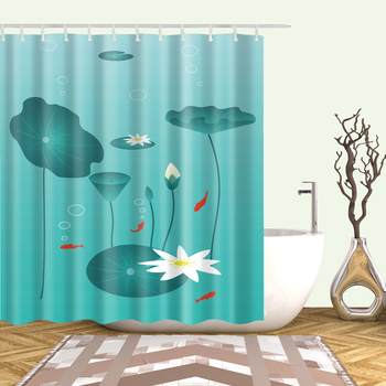 Waterproof washable shower curtains sunflower Print curtain for Bathroom polyester 180x200cm 3D Blackout shower curtain cortina