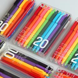 20colors/box KACO PURE Kawaii Candy Color Gel Pen 0.5mm Click Neutural Pens for Children Student Stationery School Supplies